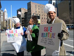 What's Cooking? Martha Stewart supporters outside of the Astor Place Kmart.