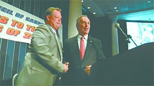Endorsable you: Bloomberg and soon-to-be-arrested union boss Forde