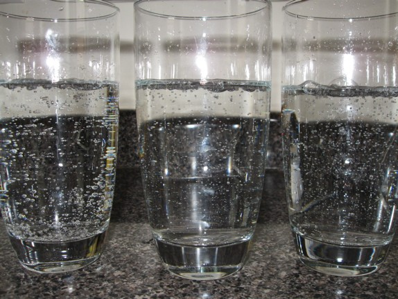 Left to right: Canada Dry, Schweppes, and Seagram's
