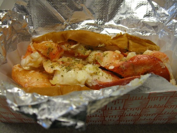 The large (four-ounce) lobster roll