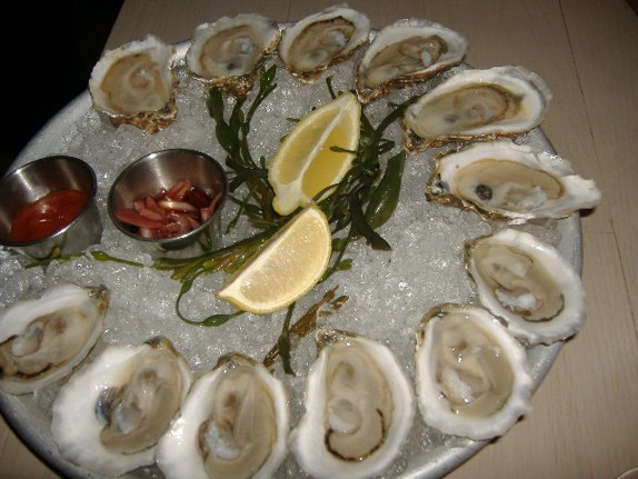 Local bivalves: Peconic Bay and Blue Point oysters