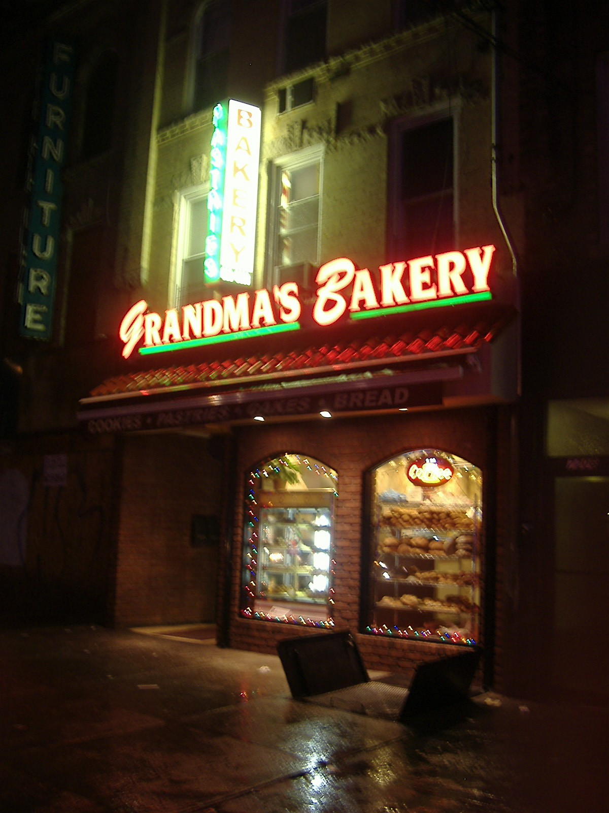 Grandma's is particularly inviting on a rainy night