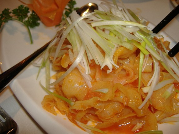 Lan Sheng's cold sliced conch in chile oil