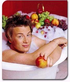 What a bathtub has to do with school lunch, we're not entirely sure.