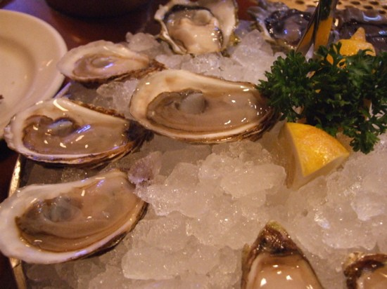 Blue Ribbon's Caraquet oysters from New Brunswick.