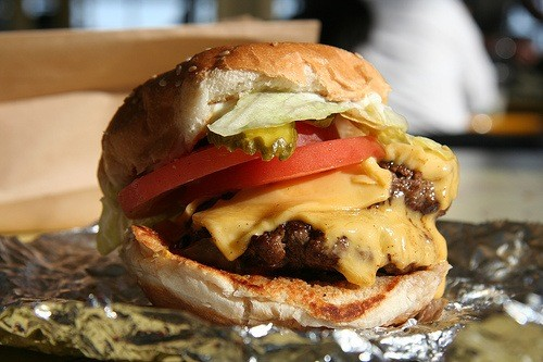 Five Guys in first place.