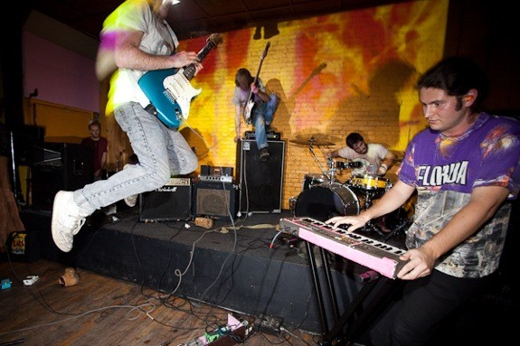 Boogie Boarder play the Imposition--one of many rival festivals that sprout up every year--during CMJ 2009. Photo by Rebecca Smeyne.