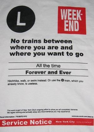 L-Train Riders: 10 Ways to Deal With This Weekend's L-Train