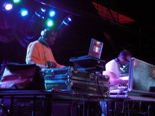 Electronic musicians are people too. Pic by Puja.