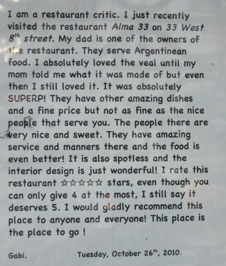 How to become a restaurant critic? Nepotism.