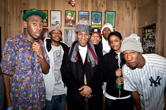 Odd Future and Mos Def in New York, circa two days ago. Photo by Brook Bobbins.