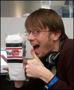 Max Willens, occasional SOTC contributor, showing off the YouTube socks that were also in the 2010 CMJ gift bag.