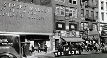The Essex Street Market, a long, long time ago.
