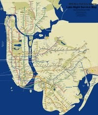 Late Night Weekend Subway Map Ny.Late Night Subway Map Helps Get You Home At All Hours Village Voice