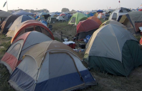 Each one of these tents? FULL OF DRUGS.