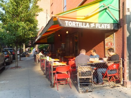 Tortilla Flats offers a nice shaded spot for dining, but is it good enough to make our top 10?