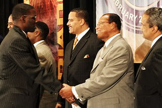 Your reward for slogging through the impenetrable Dianetics: Face time with Farrakhan!