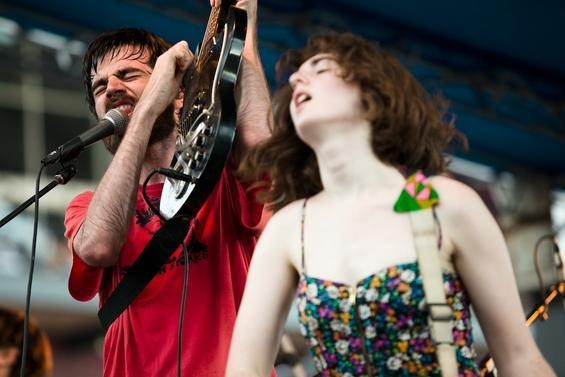 Titus Andronicus' Patrick Stickles (left) and Amy Klein.