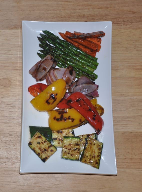 R.U.B.'s Grilled Vegetables With Balsamic-Maple Dressing