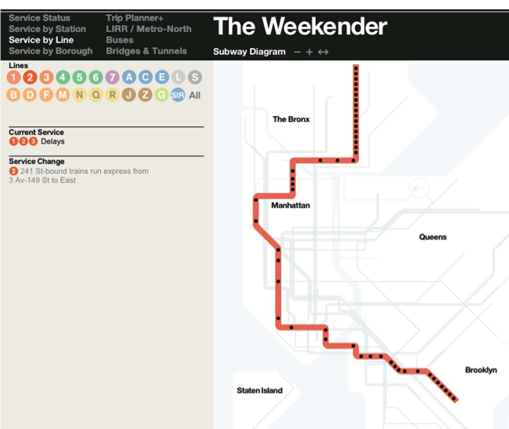 MTA Introduces New Subway Map to Make You Less Angry on Weekends ...