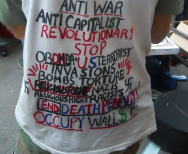 This is not one of Maresca's Occupy Wall Street shirts.