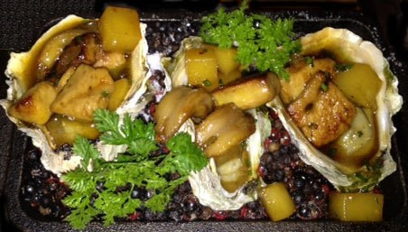 Surf and turf? David Burke Kitchen's oysters with foie gras