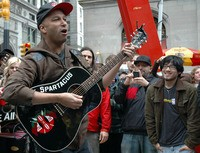 Tom Morello at Occupy Wall Street.