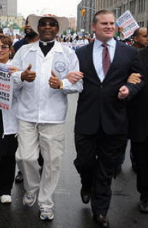 Maybe Diaz will bring NOM's Brian Brown as his date to the opening of the Bronx gay center?