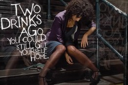 An ad from last year's NYC anti-binge drinking campaign.