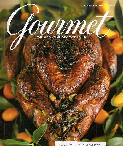 """Legendary Gourmet Thanksgiving 2002 cover popularly known as the """"Devil Turkey"""""""