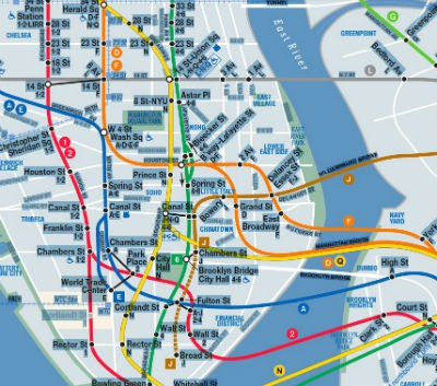 Broadway Subway Map.Mta Releases New Night Time Version Of Subway Map Village Voice