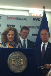 Council of Fashion Designers of America President Diane von Furstenberg and Mayor Mike Bloomberg
