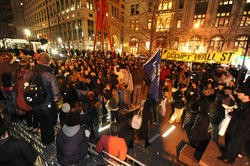 Occupy Wall Street protests on Saturday at Zuccotti Park.