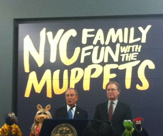 Mayor Bloomberg and the Muppets.