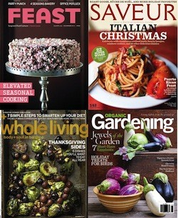 Just a few of the food magazine covers in the ASME contest
