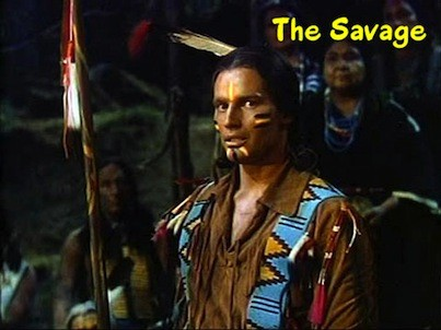 Charlton Heston as The Savage. Using a bow and arrow instead of a gun for a change.