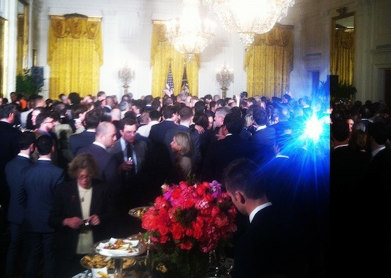 The East Room of the White House during the LGBT Month Pride Reception