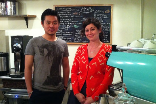 The Chipped Cup owners Andrew Ding, left, and Karen Cantor, right.