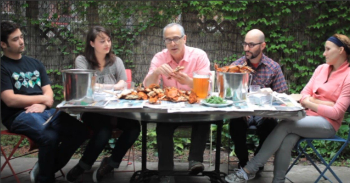 Peter Hoffman on how to eat a crab.