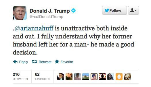 Donald Trump used Twitter to call someone ugly. He's officially a 13-year-old girl.