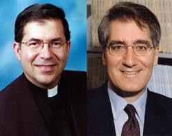 Father Frank Pavone and Robert George