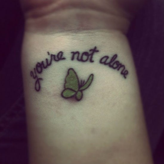 You Are Not Alone Tattoo