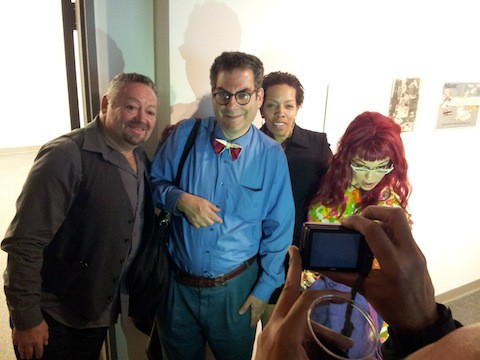 Brian Belovitch, me, Debbe Cole, Lady Miss Kier. Photo: Jim Russell