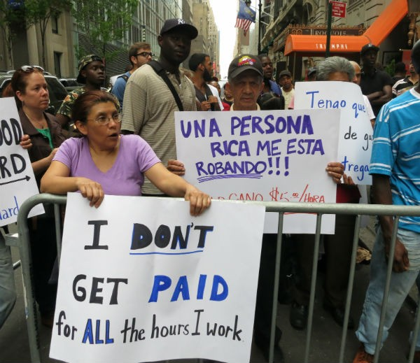 Fast-Food Workers Demonstrated outside the Wendy's shareholder meeting in midtown today.