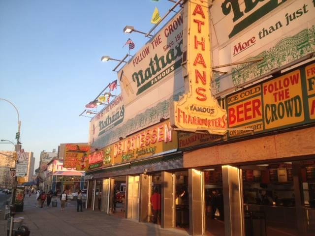 Nathan's Famous in Coney Island, a landmark in competitive eating