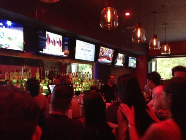 Sports lovers have their pick of the game as TV's line the bar at Red Heels