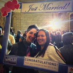 Nine couples were married at Newark City Hall early Monday