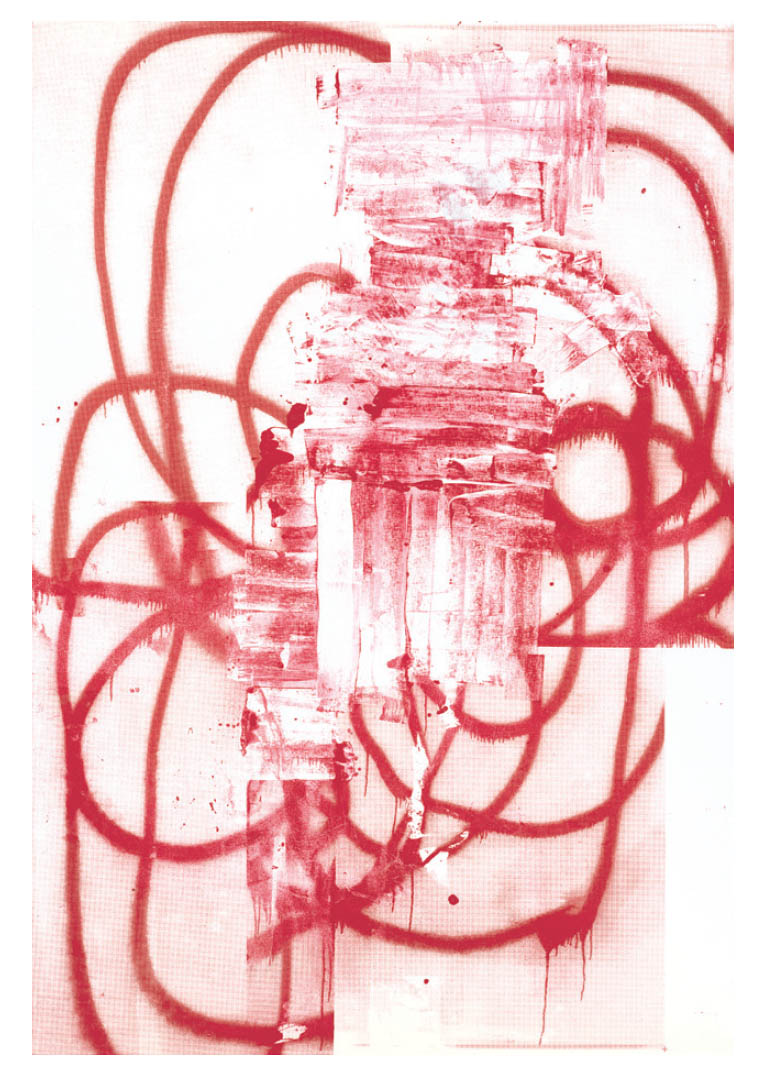 Painting by Christopher Wool in Village Voice review by R.C. Baker