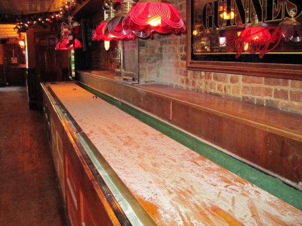 Want to settle your differences old-school style? Check out free shuffleboard during happy hour