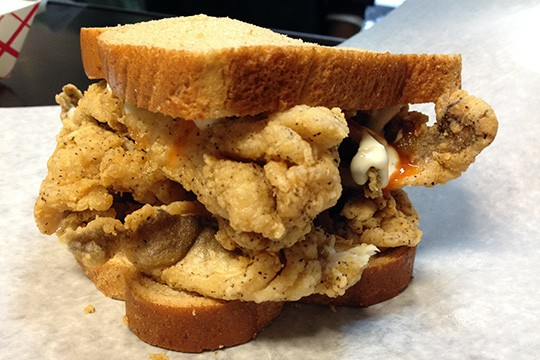 Famous Fish Market's whiting sandwich